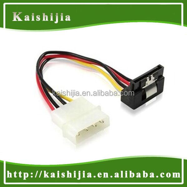 SATA 15P Right angle 90 degree to 4Pin molex power adapter cable