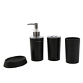 Soap Dish Sanitizer Dispenser Tooth Cup and Brush Holder ABS Bathroom Accessories