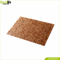 Collapsible teak wood bath mat anti-slip bathroom bath mat
