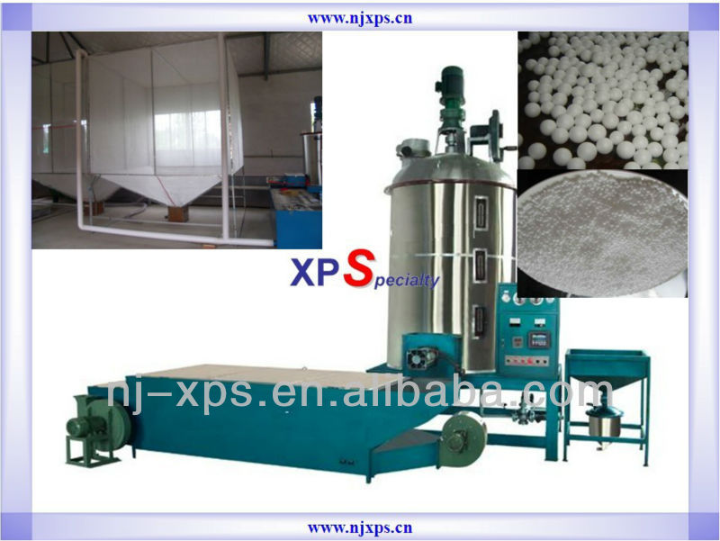 automatic polystyrene beads foaming machine