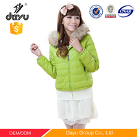 Alibaba stock price fur parka windbreaker green fur lined winter coat with hood warm clothing for cold weather