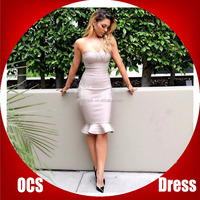 Elegant Embroidery Bodycon New Fashion winter dress for women