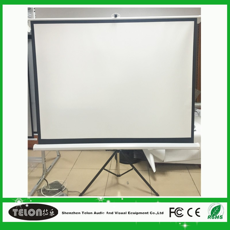 Telon projection screen 72''/84''/96''/100'',1:1 /4:3 format tripod screen,matte white projector screen with good quality