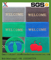 apple design pvc door mat with cheaper price,mix colors PVC coil door mat with different backing