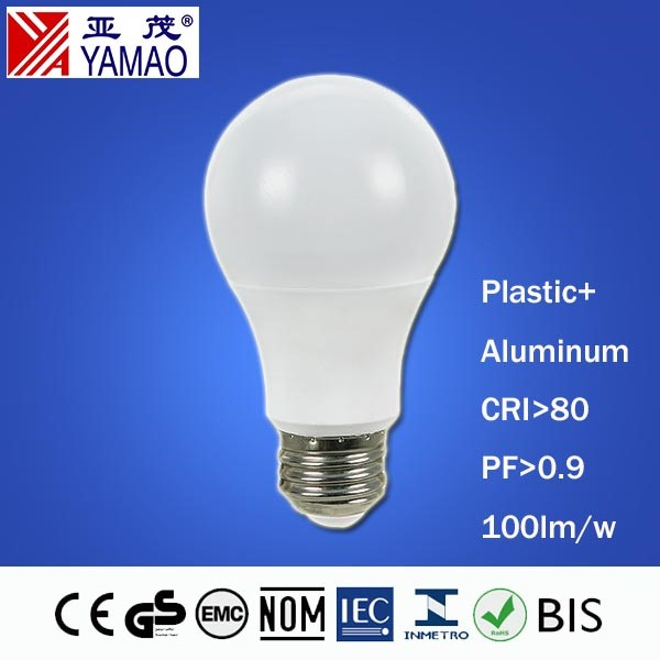 Yamao CE RoHs EMC LVD Approval High Quality Bulb with India Price 450lm 5W A60 Lamp LED Bulb