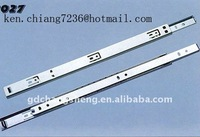 Foshan professional factory single extension ball bearing drawer slide 27mm groove mounting system