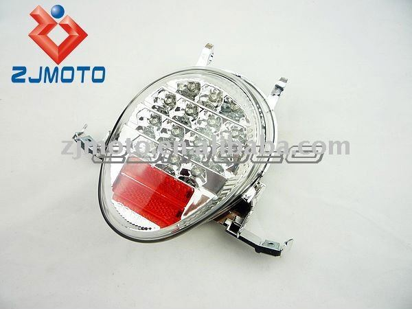 Motorcycle LED Taillight Taillamp Brake Light With License Plate Lamp and Reflector For YAMAHA Fino 2010 LED Taillight