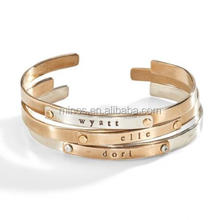 Stainless Steel Jett Multi-metal Riveted Cuff Bracelet