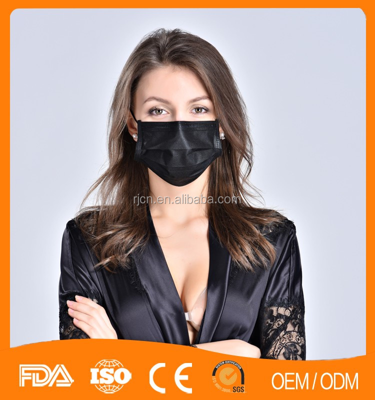 ffp2 hot 100% Black active carbon 3ply Face Mask