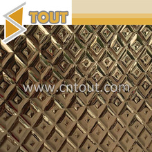 Foshan 316 Decorative Embossed Pattern Stainless Steel Metal Sheet for Wall Decoration