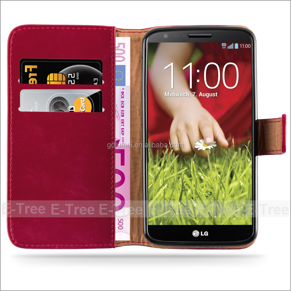 Ultra Slim Smart Cover PU Leather Case Stand case for LG G2