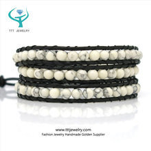 4mm Howlite Beaded Bracelet from Jewelry Manufacturer