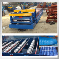 Factory Metal roof tile 1100mm forming machine/corrugated roofing sheet 1100mm forming machine/cold roll forming machine