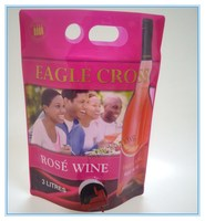 Customized Spouted Bag for Wine, Spout Wine Bag, Plastic Wine Bags with Spout