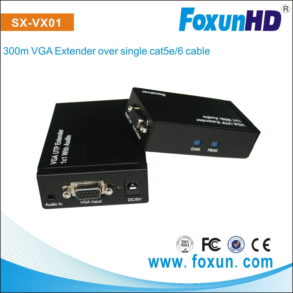 VGA TO VGA Extender via Max(300)m UTP cable , Adjusting by GAIN and PEAK