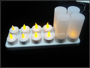 2014 Hot Sale led color flame rechargeable electronic birthday candle