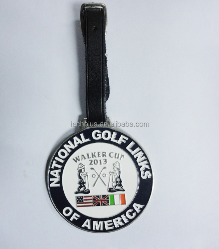 custom metal golf bag tag