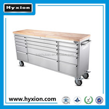 Best factory price rolling Stainless steel chest 72 inch tool trolley