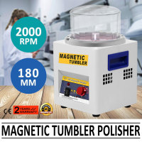 Magnetic Tumbler 180mm Jewelry Polisher Tumbler 2000 RPM KT-185 Jewelry Polisher Finisher with Adjustable Speed for Jewelry