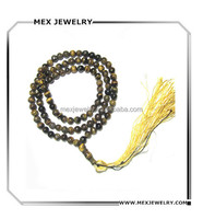 Arabic middle east islamic prayer tiger's eye beads necklace 6mm and 8mm