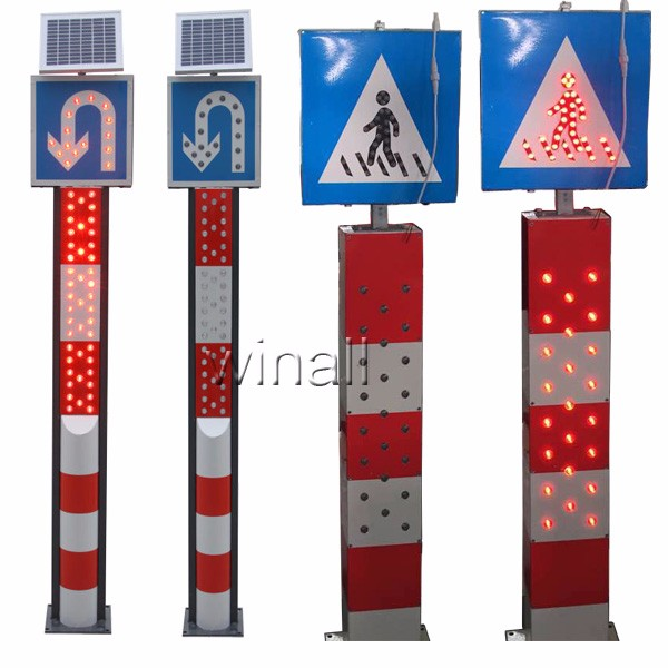 traffic and parking sign post solar traffic delineator post buy