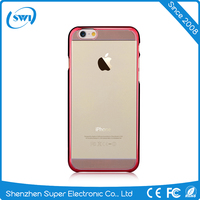 With Packing Smartphone Hard Case Clear for iPhone 6, Electroplating with Laser Cutting PC Case Cover for iPhone 6s