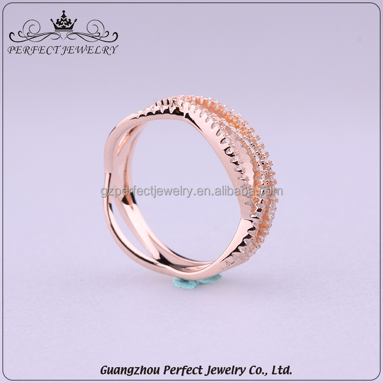 2017 Fashion Design High-End Ladies Style Zircon Stone Simple Charming Value 925 Silver Ring