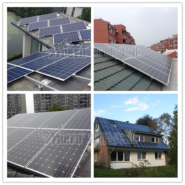 home roof mounting 5kw off grid tie pv solar panel power energy system price