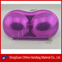 CFBCD3-00008 Sequin covered EVA hard shell eva travel bag bra