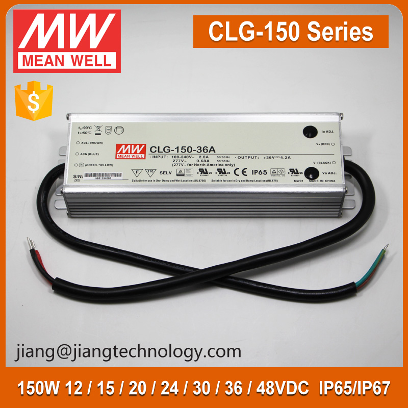 Meanwell CLG-150-36 Waterproof IP67 LED Driver 150W 36V 4.2A