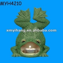Creative polyresin frog shape candle burners