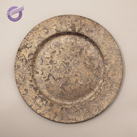 PZ26270 wholesale plastic wedding charger plates with gold silver rose color