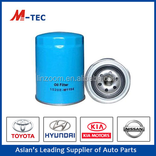 auto part oil filter OE15208-W1194 with high efficiency