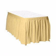 Everyday Purity materials weding design household curly willow table skirts plastic table skirting
