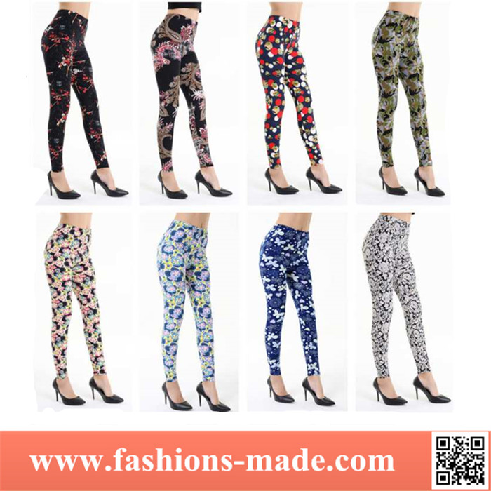 Wholesale Cheap 3D Leggings Digital Print Brushed Elastic