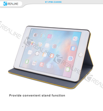 for ipad mini 4 hot sale pu leather standing tablet case with precise camera hole site