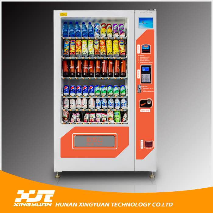 Biscuits/Chocolate/Candy/Cold Drinks Vending Machine with Apple Pay System