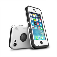 Waterproof case For Iphone 5C Shockproof Dirt Snow Proof Durable Case Cover White
