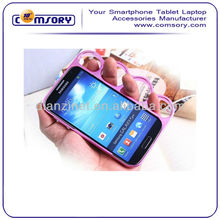 best prcies four finger rings mobile phone case for samsung galaxy s4 i9500 Paypal Acceptable