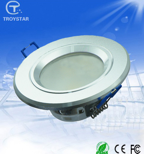 7W 120 degree LED Dimmable downlight with CE,RoHS bright cree led recessed ceiling panel down light