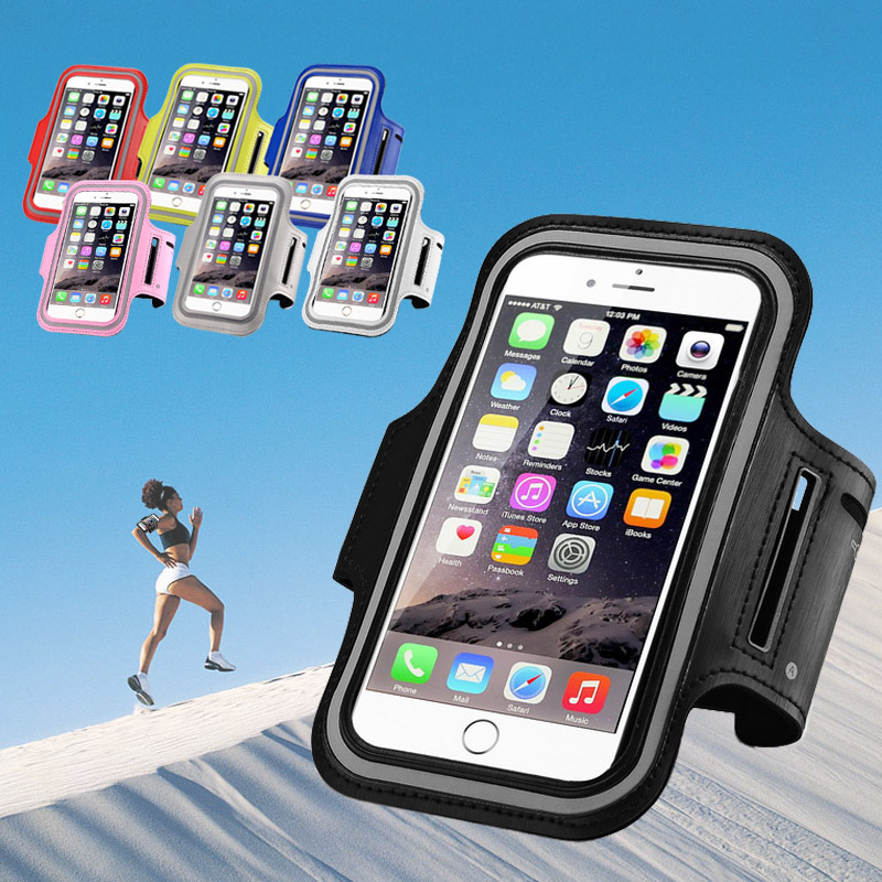 Hot sale Colorful Sport Arm Band Case Cycling Adjustable mobile phone Arm Bag Wholesale Armband For IPhone and android phone