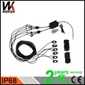 WEIKEN Wholesale 4/6/8/12xPods waterproof IP68 9W Mini LED Rock Light for JEEP Trucks and Boats