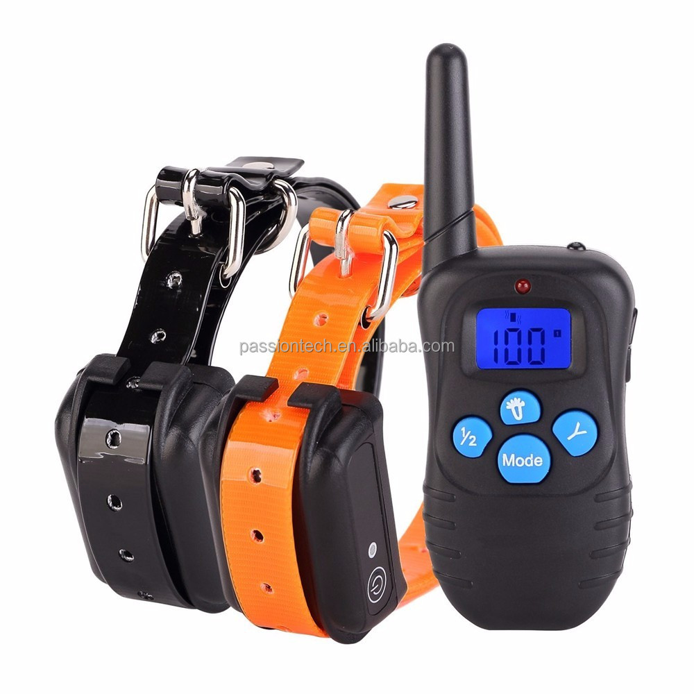 Waterproof Rechargeable Remote LCD Electric Dog Training Shock Collar M998