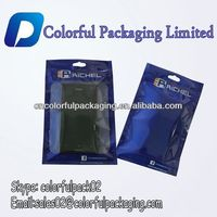 Mobile Phone Cover Packaging Bag With Hanger Zipper&clear window