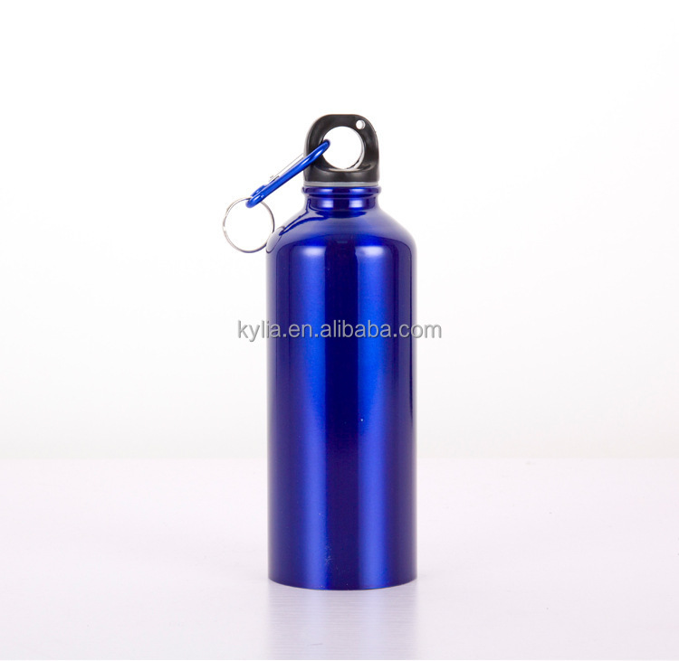 300ml 500ml aluminum sport water bottle with carabiner