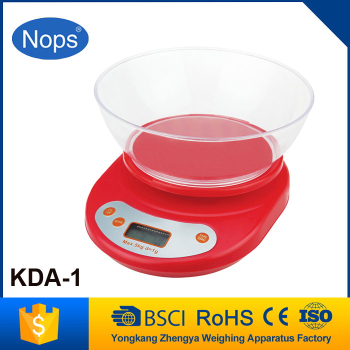Transparent plastic plate KDA-1 electronic weighing scale