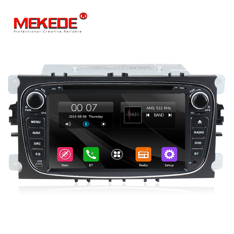 Mekede Cheap and fine 2Din 7 Inch Car DVD Player for Ford Focus 2 Mondeo S-MAX 2008-2011 With Radio GPS RDS BT 1080P