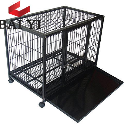hot sale 5ft and 6ft large dog kennel cage with dog lock