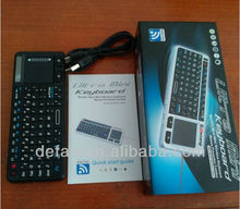 Ultra-thin Mini 2.4ghz Wireless Keyboard with Touch Pad