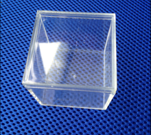 Injection mold acrylic small box injected clear plastic cube 55x55x55mm